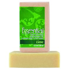 Bali Soap - 3 Piece Natural Soap Bar Gift Set - Handmade - Essential Oil - For Face and Body - Oz each - Lime Essential Oils For Face, Lime Essential Oil, Cocoa Butter, Bar Soap, Body Wash, Face And Body, Biodegradable Products, Bali, Essentials