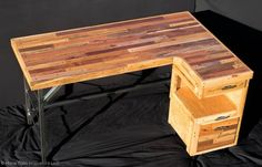 Industrial Standing Executive Desk From Repurposed Pallets Desks & Tables