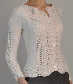 Modèles de tricot de pull cardigan - Dans la boucle à tricoter