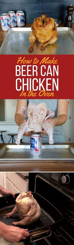 Here's How To Make Beer Can Chicken In Your Oven