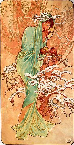 Alfons Mucha - 1896 - Winter - Alfons Maria Mucha – Wikipédia,
