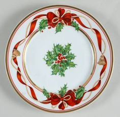 Christmas Dinner Plates, Christmas China, Christmas Table Settings, Christmas Tablescapes, Christmas Art, Beautiful Christmas, Christmas Decorations, Christmas Ornaments, Xmas