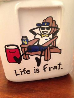 This is the cutest cooler ever. Life is titties (tits) for sororities Fraternity Formal, Fraternity Coolers, Frat Coolers, Sorority Canvas, Sorority Paddles, Sorority Crafts, Sorority Recruitment, Guys 21st Birthday, Birthday Cakes