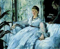 """La Lecture""  --  Circa 1883  --  Edouard Manet  --  French  --  Oil on canvas  --  Musée d'Orsay, Paris."
