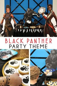 Black Panther party ideas! See more photos and shop this look on the blog! #blackpanther #blackpantherparty #marvelcomicsparty #blackpanthertheme #boybirthdayparties