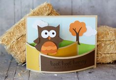 A2 FLEXI CARD OWL by Lori Whitlock Design ID #160738