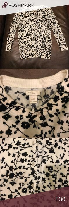J.Crew floral print 3/4 sleeve Clare Cardigan In good condition! J. Crew Sweaters Cardigans