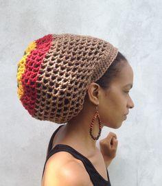 ILA IRise Dread Nett  Rasta stripe Crochet Tam
