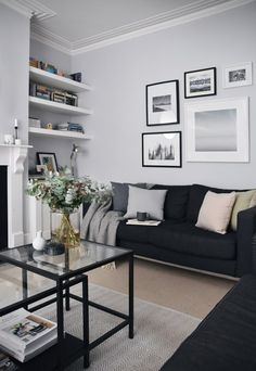 33 Amazing Grey White Black Living Room Decor Ideas And Remodel. If you are looking for Grey White Black Living Room Decor Ideas And Remodel, You come to the right place. Here are the Grey White Blac. Silver Living Room, Living Room White, Living Room Interior, Home Living Room, Apartment Living, Living Room Designs, Small Living, Modern Living, Black White And Grey Living Room