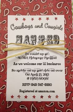 2555r western red bandana baby shower invitation barbecue baby i finally finished making our baby shower invitations our lil cowboy filmwisefo Images