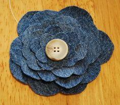 PAP flor de jeans