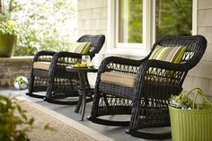 You'll love these allen + roth patio rocking chairs.  It'll be your go-to spot for instant relaxation!