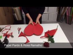 Wrapping a rose for Valentine's Day #wrapflowers - YouTube