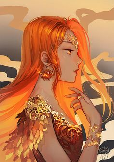 Red Hair Girl Anime, Red Hair Woman, Girls With Red Hair, Anime Girls, Drawing Flames, Queen Of Fire, Flame Hair, Anime Elf, Queen Anime