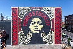 "Shepard Fairy, ""Power and Equality"" for Thecrushwalls in Denver, CO, USA, 2018 Street Art, Street Mural, Shepard Fairy, Colorado Usa, I Cool, Graffiti Art, Art Nouveau, Modern Art, Crushes"