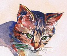 Ready to Pounce (Framed in Black 8x8 in) by Lynn Rank Henry SOLD