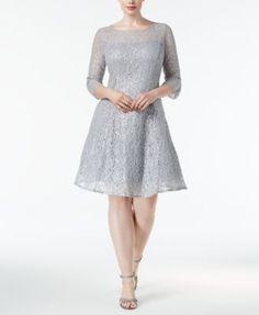 f45ecbd8b88 SL Fashions Plus Size Sequined Lace Fit   Flare Dress Women - Dresses -  Macy s