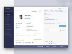 interface design Redesigned CRM, presenting one component of an application. Mainly were focusing on to make the user interface clean and nice looking. Hope you guys will like it. Dashboard Design, Dashboard Interface, User Interface Design, Ui Ux Design, Ui Design Software, Graphic Design, Design Set, Game Design, Form Design