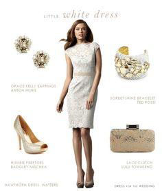 Little white lace dress ideas http://www.dressforthewedding.com/little-white-lace-dress/