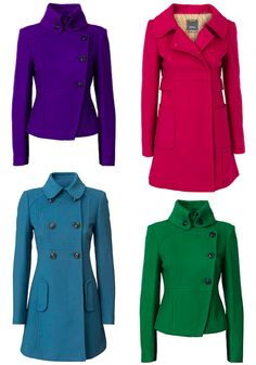 Jewel-coloured Winter coats from Marcs. Love them all... the blue isn't my fave but I like the cut. - ts
