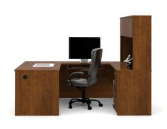 Bestar - Embassy U-Shaped Tuscany Brown Workstation Kit - 60857-63