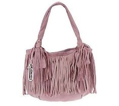 B. Makowsky Glove Leather Tote with Fringe Detail