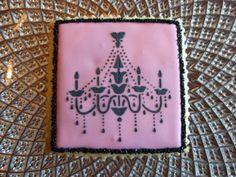 chandelier w pink background