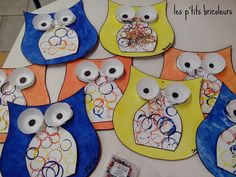 Owl Crafts, Preschool Crafts, Crafts For Kids, Owl Classroom, Owl Ornament, Class Decoration, Painted Paper, Famous Artists, Mobiles