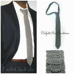 'Mixin it up with DaPerfectMix': Crochet Neck Tie Pattern