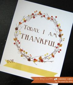 Free Thanksgiving Printable! A great tradition to start with your family!