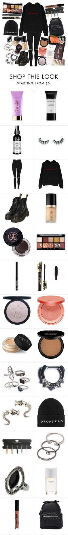 """I, I'm still here, though I'm not sure what it's for anymore. I, I feel lost, and I'm not sure if I'm heard by anyone."" by thelyricsmatter ❤ liked on Polyvore featuring tarte, Smashbox, NYX, Unicorn Lashes, Topshop, Too Faced Cosmetics, Anastasia Beverly Hills, NARS Cosmetics, Mudd and Halftone Bodyworks"