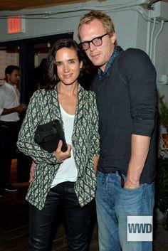Jennifer Connelly wearing Maison Olga Jacket (with Paul Bettany) #kisanstore #kisan #maisonolga #jenniferconnelly