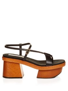 Altea faux-leather block-heel platform sandals | Stella McCartney | MATCHESFASHION.COM US
