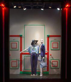 ELITE Woman SS15 shop windows: Emilio Pucci, Kenzo, Alexander McQueen, Roberto Cavalli. http://www.elitestore.es