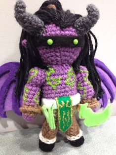 Amigurumi Illidan Stormrage This is a custom design I made as a birthday present for a friend that loves World of Warcraft! This was one of the most extensive ami's I've made to date! I used a lot of...