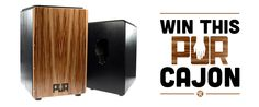 Sign up and win the PUR Cajon Giveaway on Reverb.com!