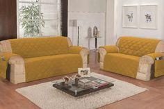protetor de sofá mostarda 2 e 3 lugares