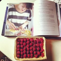 Rachel khoo's Tart aux framboise et amandes