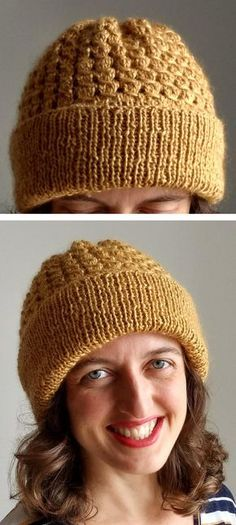 Free Until Jan 1 2018 - 4 Row Repeat Aranka Hat Knitting Pattern - Free until Jan 1 2018 Only . Easy beanie hat with 4 row repeat Mrs. Hunter stitch pattern in DK weight yarn. Designed by Dani Gherardi