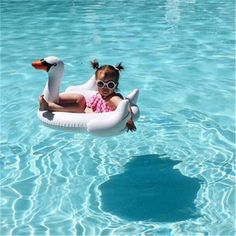Swimming Ring Children's Inflatable Baby Swimming Ring Cute Animal Swimming Ring Swimming Pool Accessories - Swimming Pool & Accessories - Baby Swimming, Swimming Pools, Swan Float, Swimming Pool Accessories, Inflatable Float, Pool Toys, Happy Baby, Summer Baby, Cute Babies