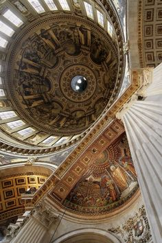St. Paul's Cathedral. It is one of Europe's largest cathedrals and its dome is only exceeded in size by that of the St. Peter's Basilica in Rome.