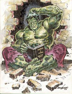 #Hulk #Fan #Art. (Hulk looking at Art) By: Ernie Chan. (THE * 5 * STÅR * ÅWARD * OF: * AW YEAH, IT'S MAJOR ÅWESOMENESS!!!™)[THANK Ü 4 PINNING!!!<·><]<©>ÅÅÅ+(OB4E)                 https://s-media-cache-ak0.pinimg.com/474x/1b/5a/7b/1b5a7b4c41838993ad9befeac5ec9664.jpg