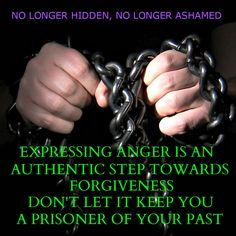 Expressing anger is necessary when healing from abuse.  Make sure it is done in a healthy way.