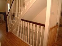 open basement staircase - not these spindles