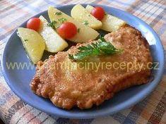 Pikantní řízky v těstíčku Czech Recipes, Snack Recipes, Snacks, Steak, Pork, Chicken, Czech Food, Snack Mix Recipes, Kale Stir Fry