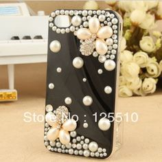 Aliexpress.com : Buy 3D Cover Case Skin for Iphone4g/4s Transparent Pearl Flower Mobile phone Case For Iphone 4S Free Shipping from Reliable Cover for Iphone4g flower suppliers on Skytech Global Technology INC. $5.65