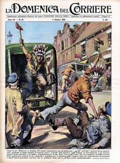 """October 05, 1958 Like in a """"Western"""" in London, three masked men, two from a cowboy and one from a cowboy, came out of a pickup truck; Shaking their armies with innocuous darkness and shouting in the manner of the Indians, approached a stationary van in front of an office, took hold of two bags containing values for a £ 8000 (over 14 million Italian lire) and quickly They moved away, always under the eyes of the passersby and the guardians themselves convinced that it was a film scene."""