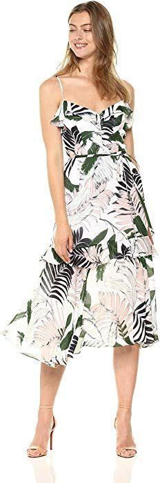 New MILLY Women's Tropics Print GGT Petal Dress online shopping - perfecttopbuy Women's Fashion Dresses, Casual Dresses, Summer Dresses, Fashion Wear, Womens Fashion, Bohemian Gown, Uniform Dress, Street Style Blog, Terani Couture