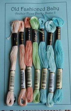 $5 for 7 Anchor Floss Packs from Old Fashioned Baby for embroidery, cross stitch, etc.  This website is mostly for heirloom sewing but has some cute embroidery patterns, embroidery strand / floss + fabrics for the projects.  Worth checking out. 6 strand cotton embroidery floss in many many shades & different packs