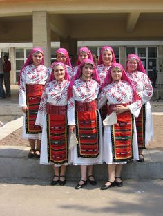 Bulgarian traditional costumes.